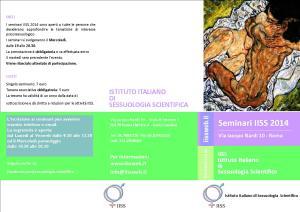 Brochure Seminari IISS 2014 Fronte